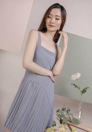 🚚 TTR Ash Blue Pleated Dress