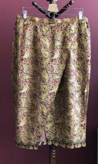 Custom Bali Batik Midi Skirt