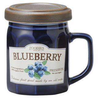 全新及正品 日本直送 SETO CRAFT 藍莓果醬造型馬克杯 連蓋