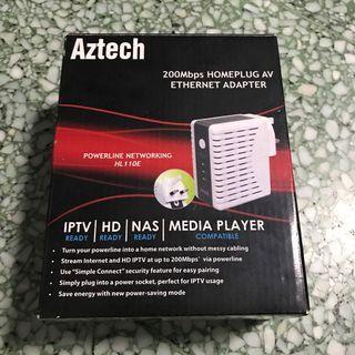 Aztec 200Mbps Homeplug AV ETHERNET ADAPTER