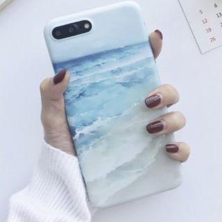🚚 Beach Waves Paint Case for iPhones 6 & Newer