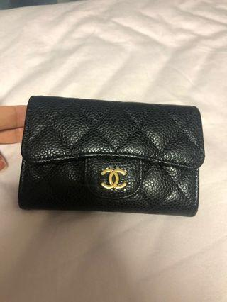 Chanel calf leather small wallet/ card holder