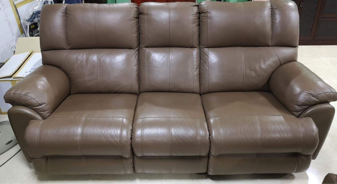 3 Seater Leather Recliner Sofa Furniture Sofas On Carousell