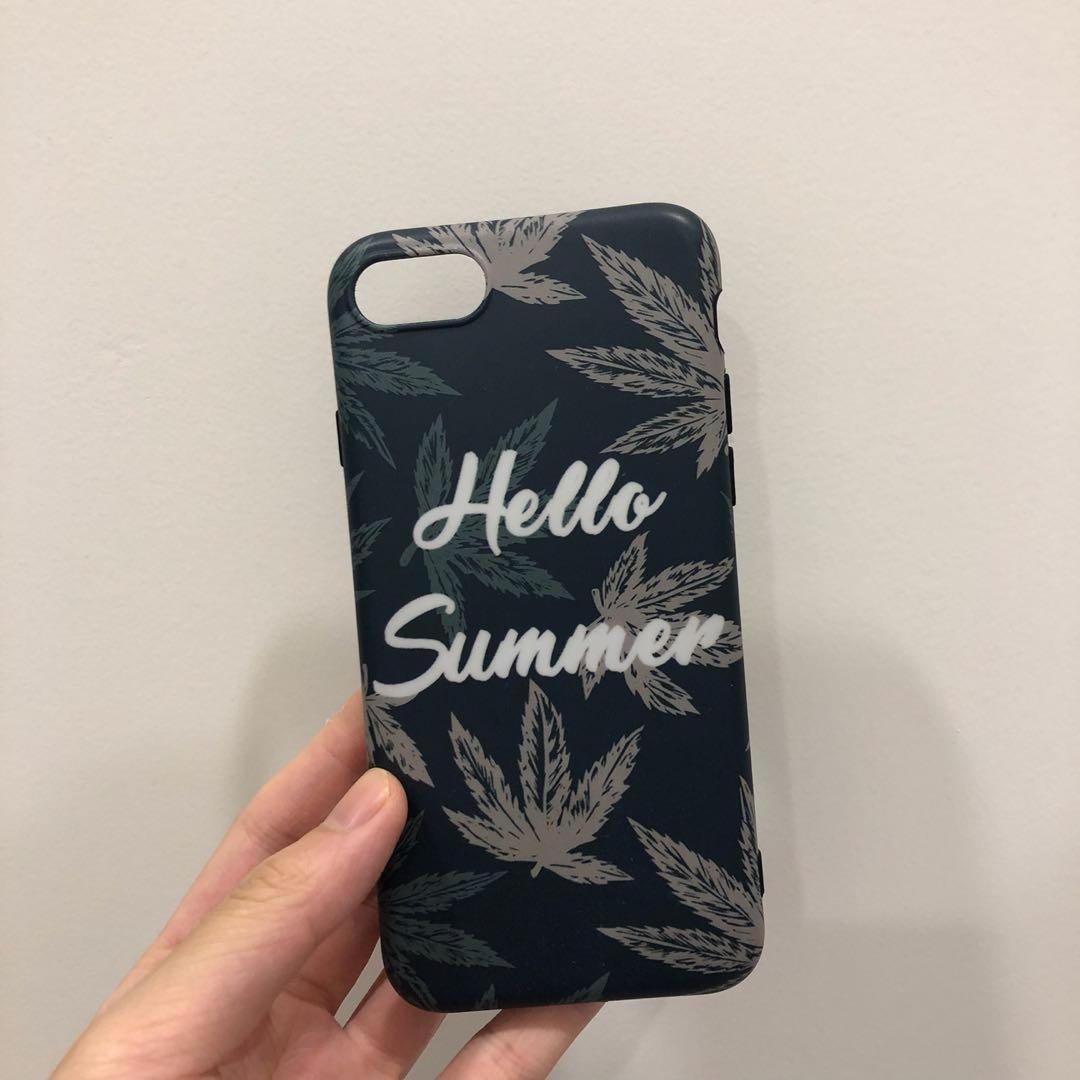 綠底 Hello Summer I7/8 4.7吋手機殼