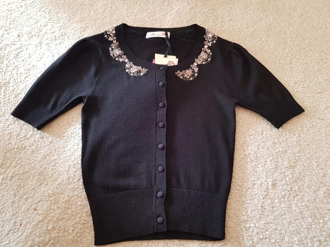 Alannah Hill short sleeve cardigan size 6