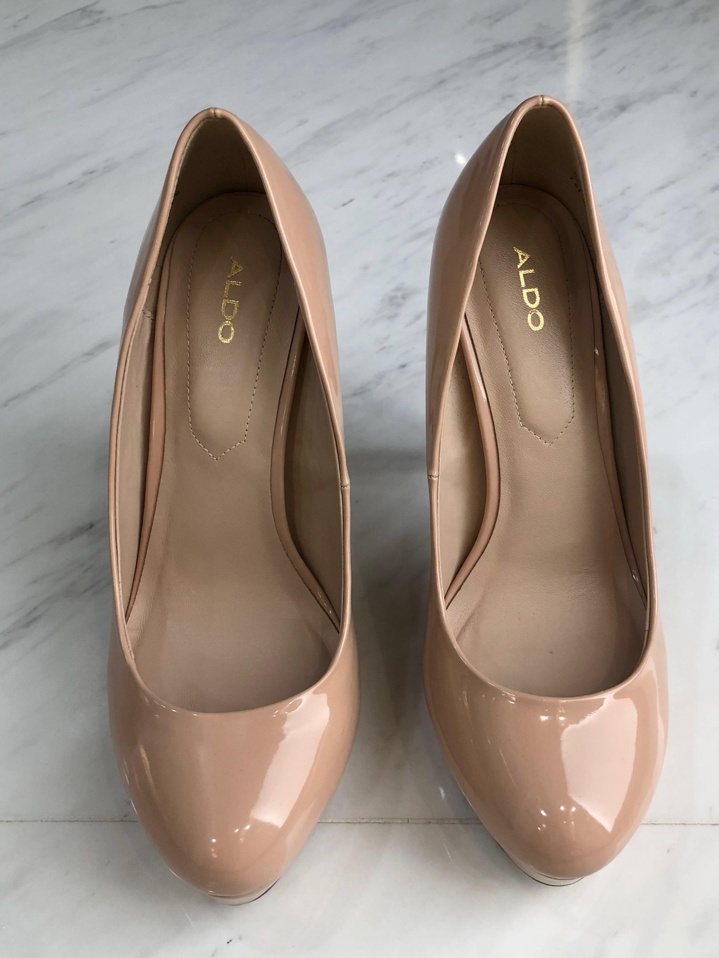 Aldo Nude Colour Heels, Women's Fashion