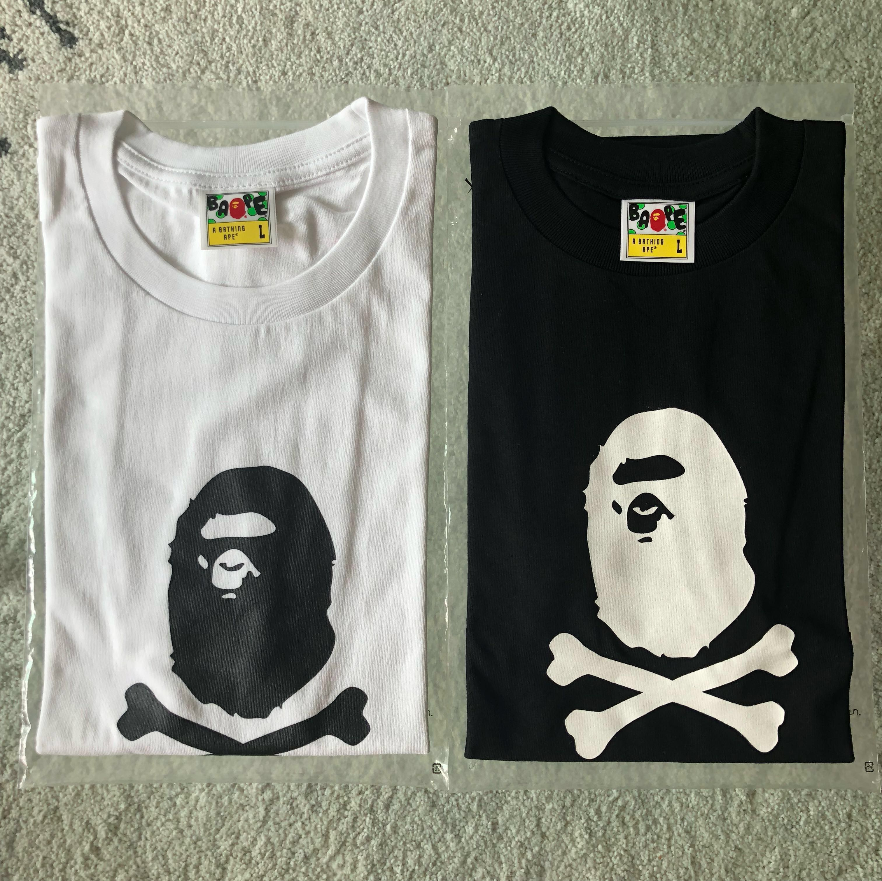 06f571c40 BAPE PIRATE APE HEAD CROSSBONE TEE, Men's Fashion, Clothes, Tops on  Carousell