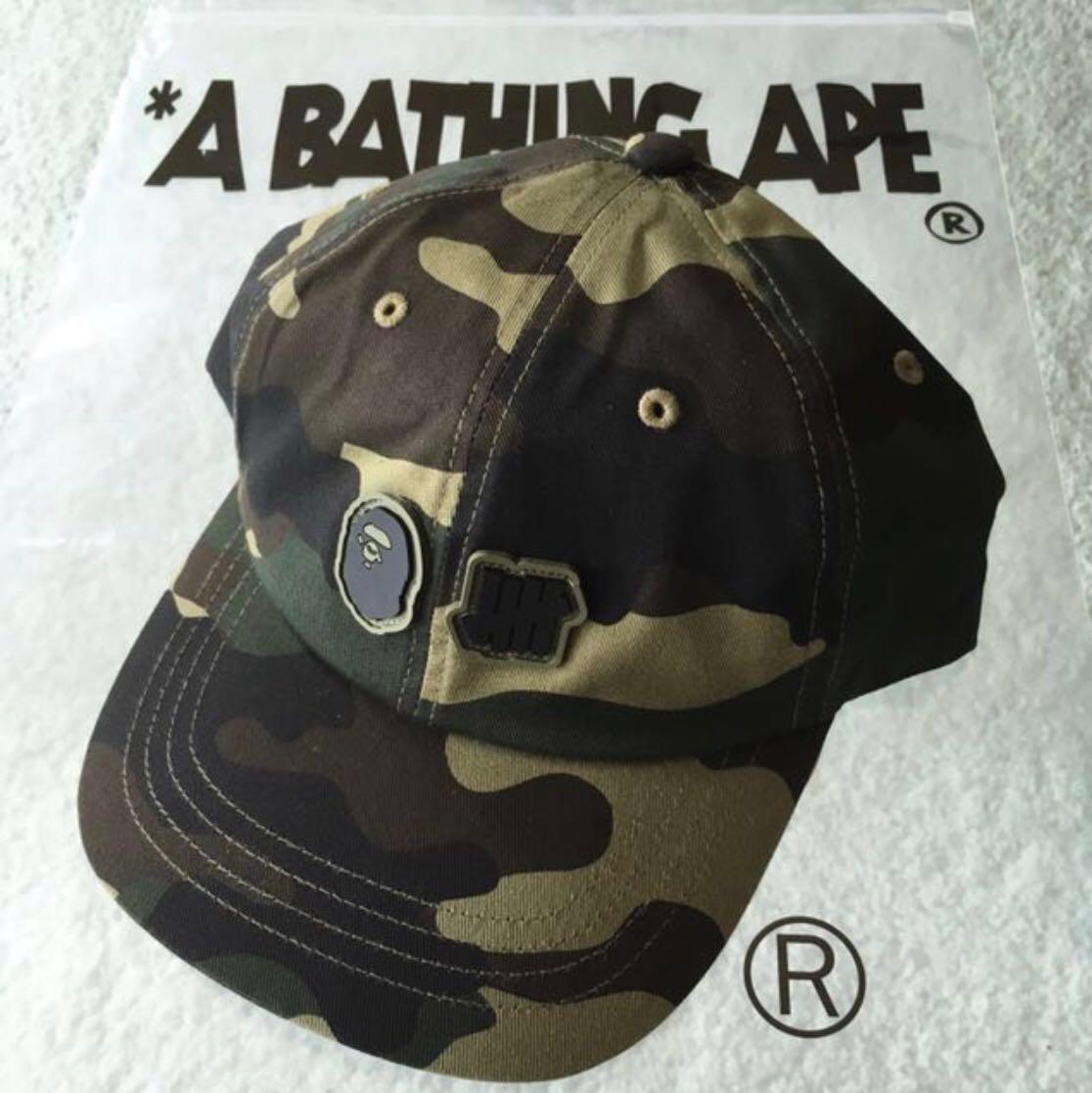 dc70b114 BAPE X UNDEFEATED UNDFTD WOODLAND CAMO PANEL CAP, Men's Fashion ...