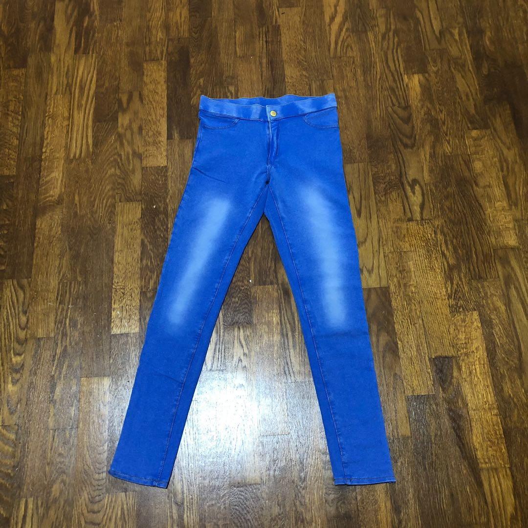 73f59a6b60 BNWT H&M big girl blue jeans leggings, Women's Fashion, Clothes, Pants,  Jeans & Shorts on Carousell