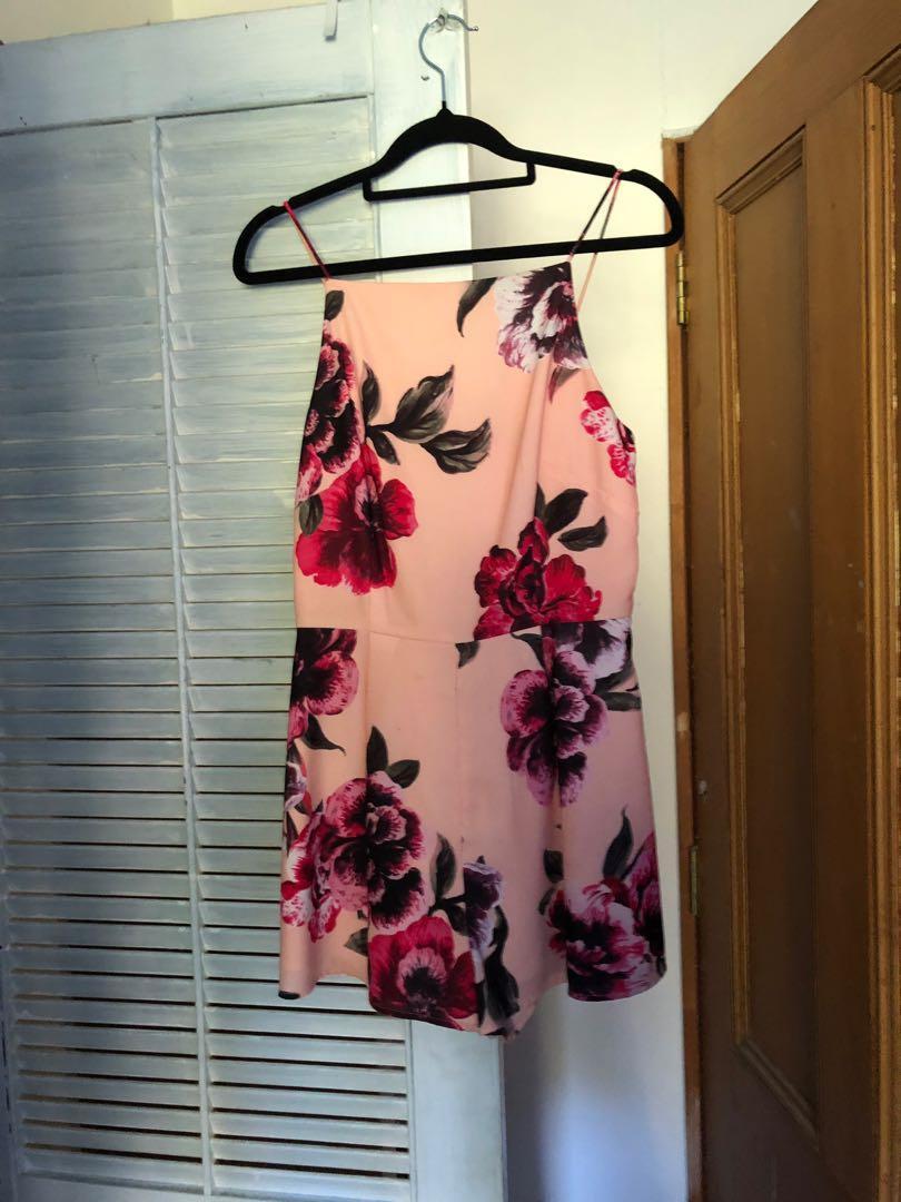 Branded flower jumpsuit