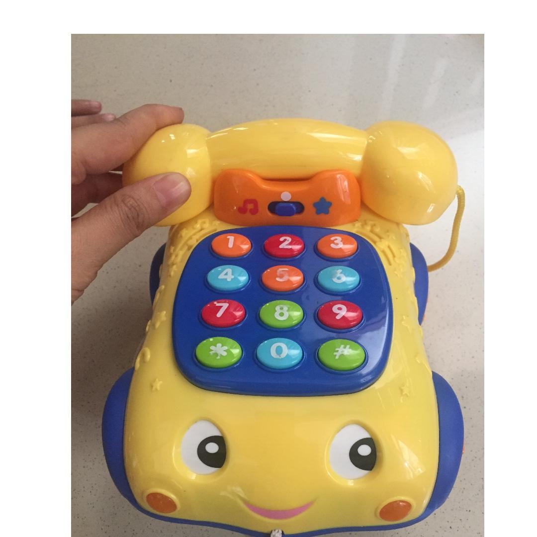 Bundling: telepon berbunyi & bola fisher price
