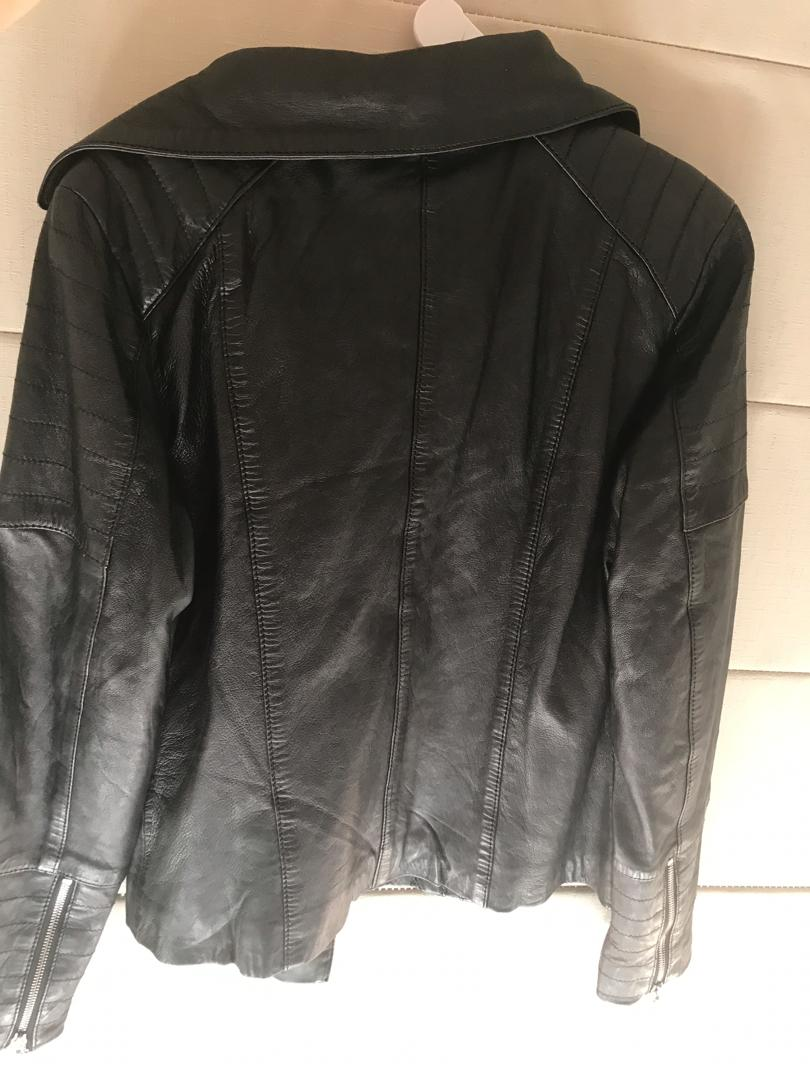 Black leather jacket - New with tags. RRP $665 paid $350