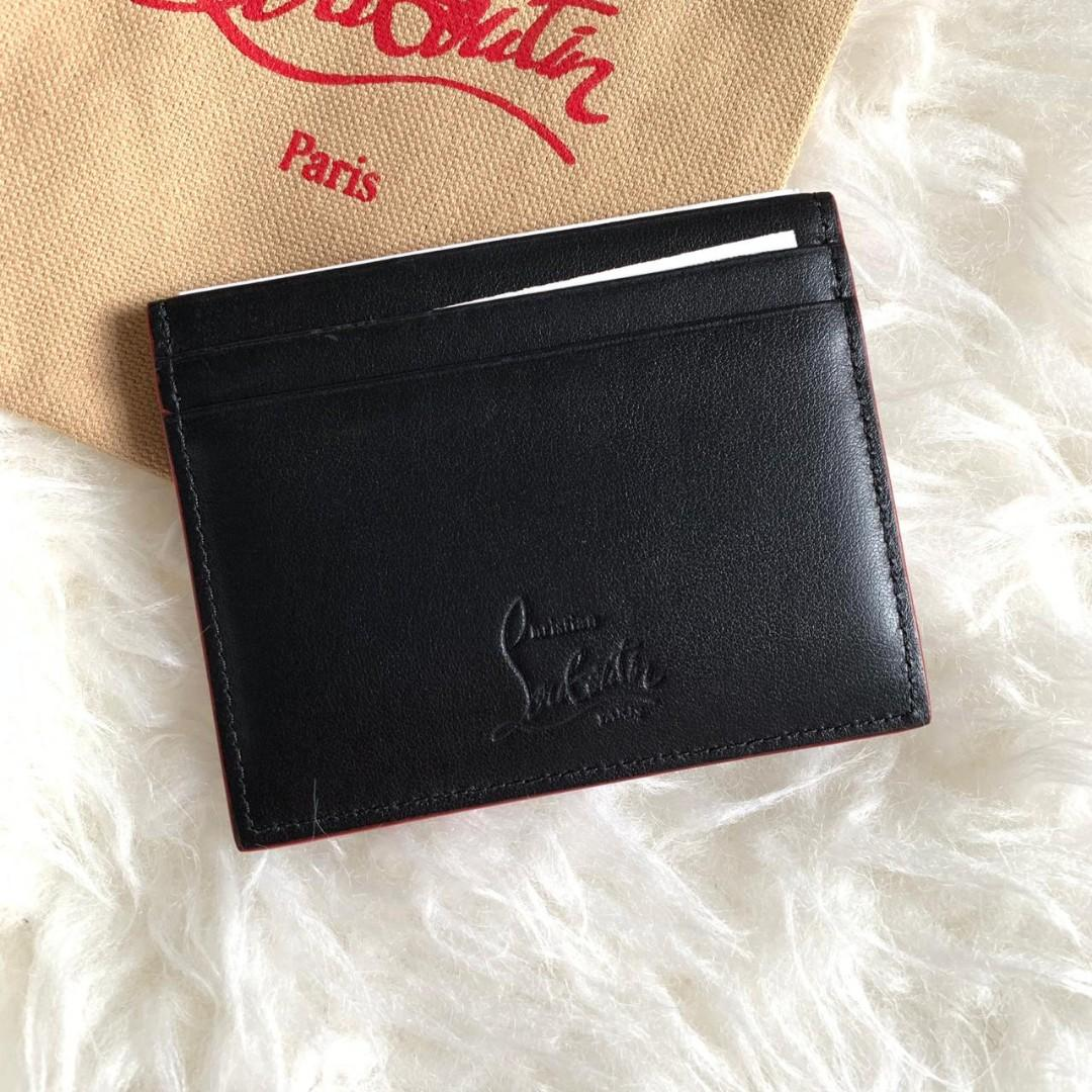 CHRISTIAN LOUBOUTIN CARD HOLDER SPIKES