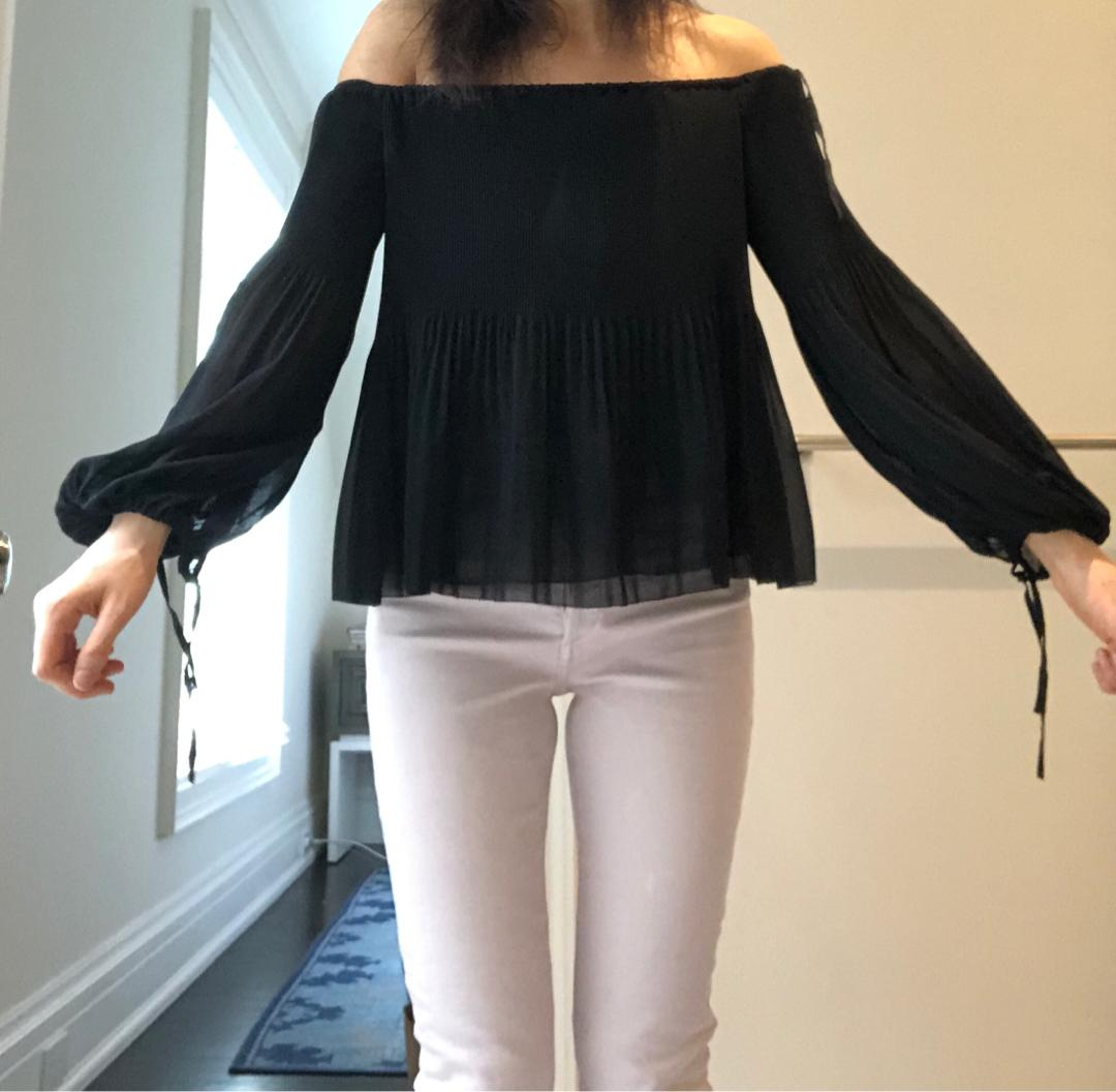 Cutest silky Aritzia off the shoulder blouse size s