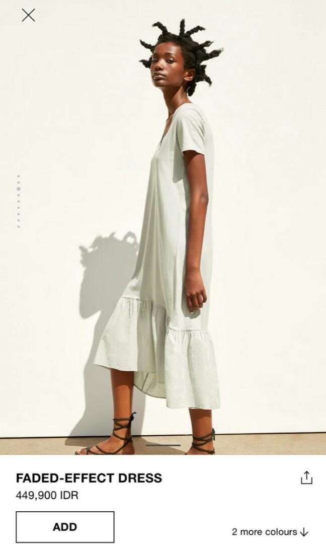 #mauthr Feded-effect dress zara woman original