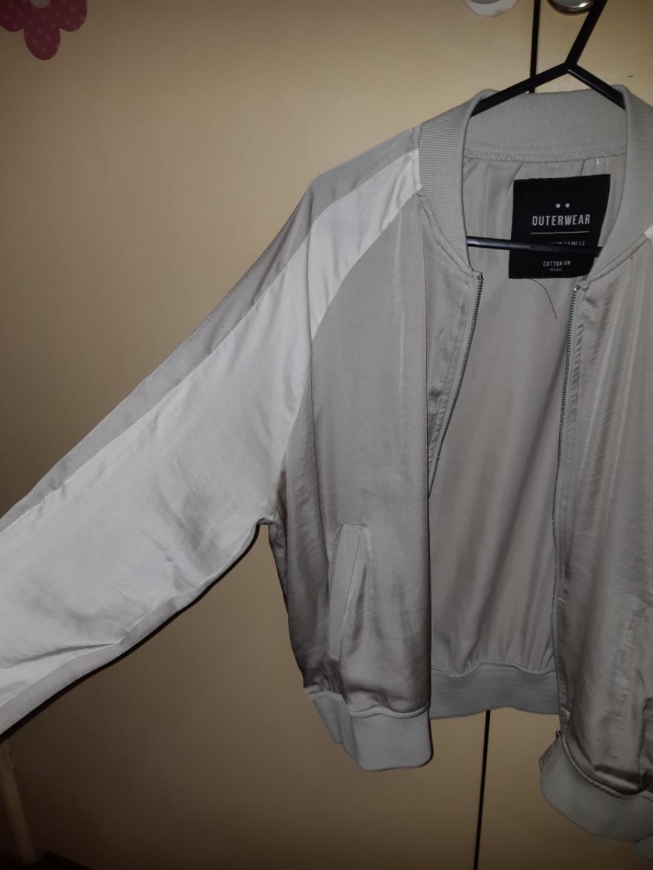Grey light bomber jacket