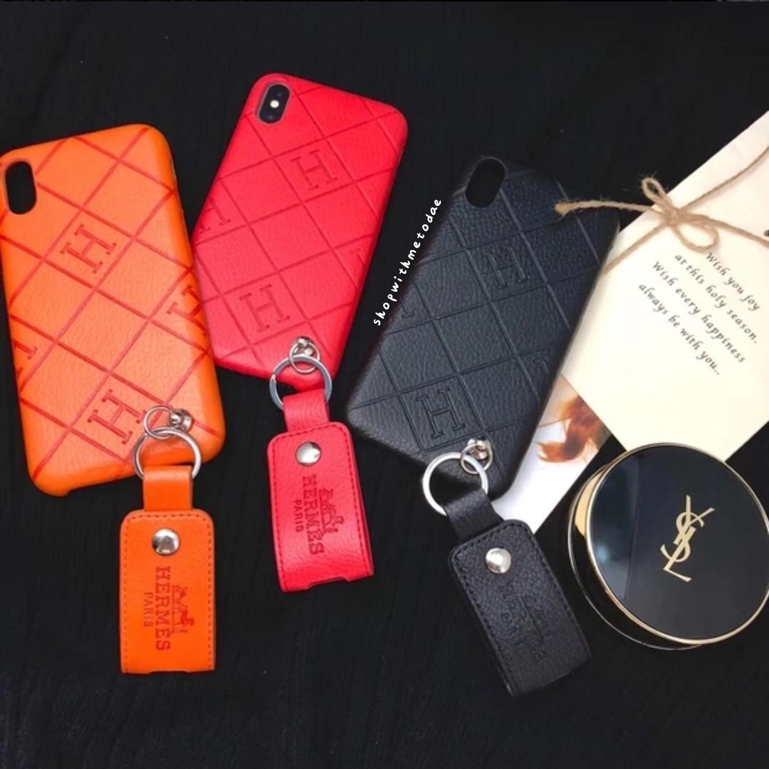finest selection 0eb64 8d74f Hermes Paris Leather Iphone XR / XS Max / X / 8 / 6S casing