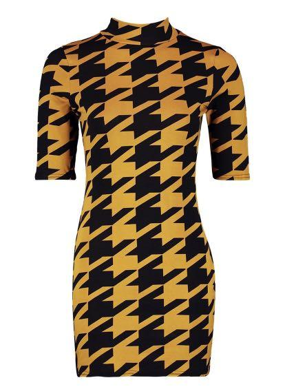 Houndstooth Bodycon Highneck Dress ALTERED #swapau
