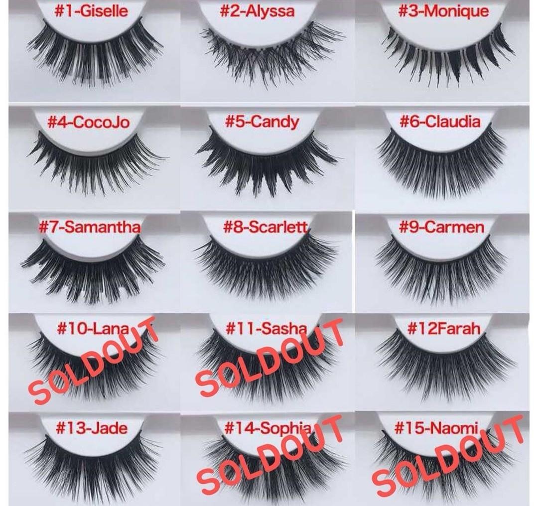 eff84fa16d8 HUDA BEAUTY MINK EYELASHES, Health & Beauty, Makeup on Carousell
