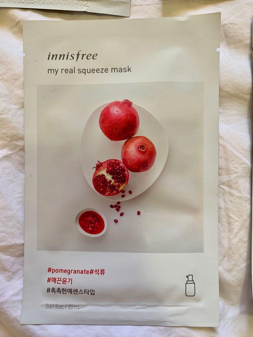 Innisfree My Real Squeeze Radiant Skin Mask Pack (7 masks)