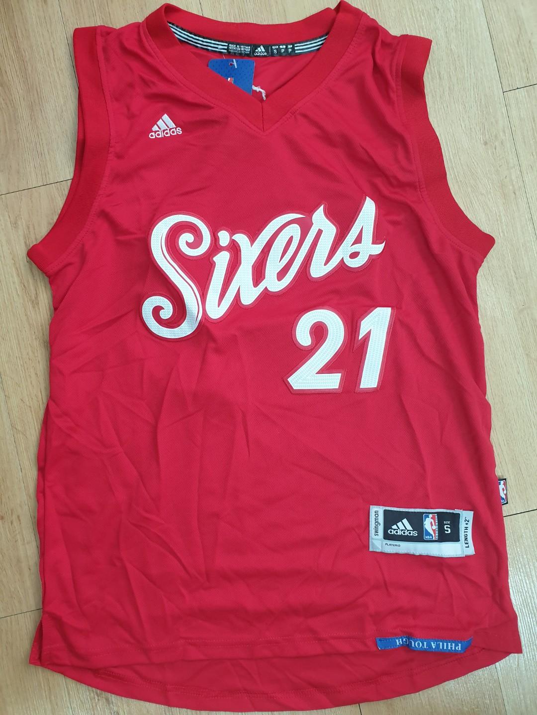 online retailer a5e48 94c57 INSTOCK NBA Philadelphia 76ers Sixers Joel Embiid Christmas Edition  Swingman Jersey