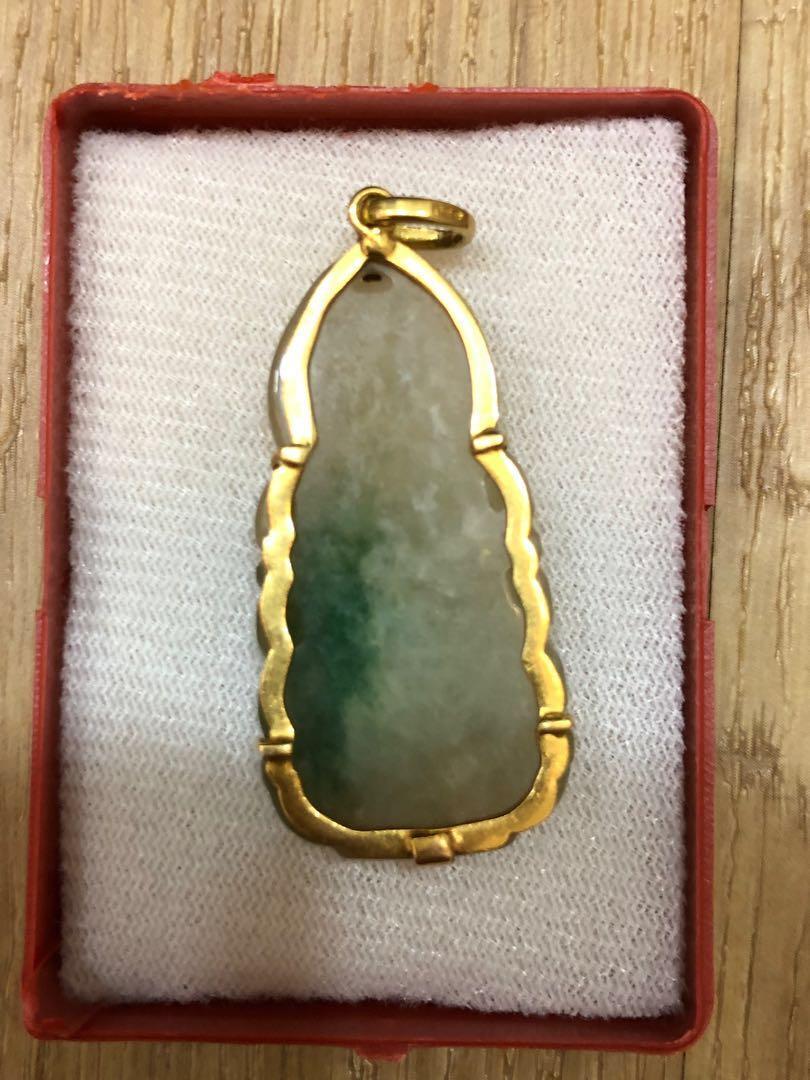 Jade guan yin pendants