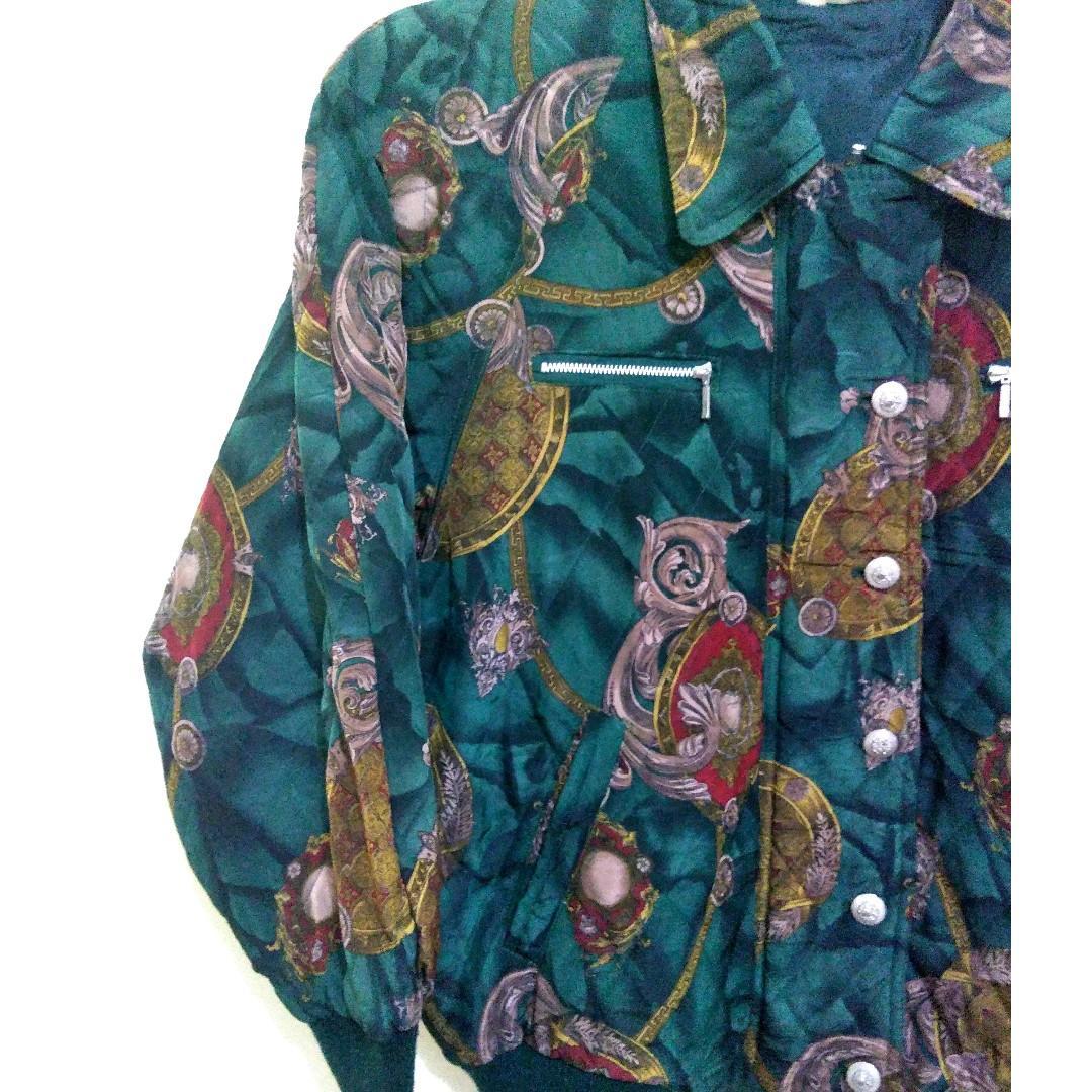 Jaket Bomber motif