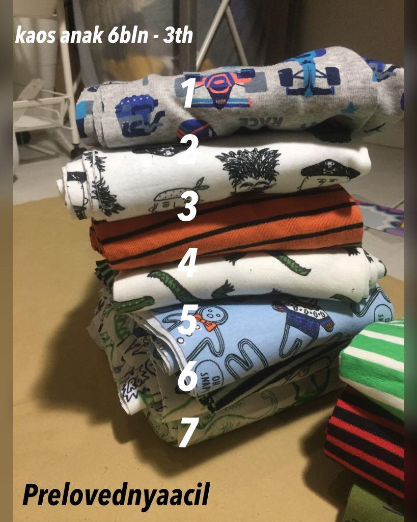 Kaos anak murah katun bagus 6bln - 3th (BARU bukan bekas)