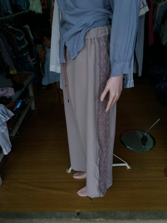 Kulot korea & blouse L