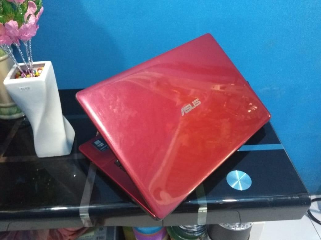 Laptop asus a450c intel celeron 1007 ivy ram 2gb 14inch normal merah merona