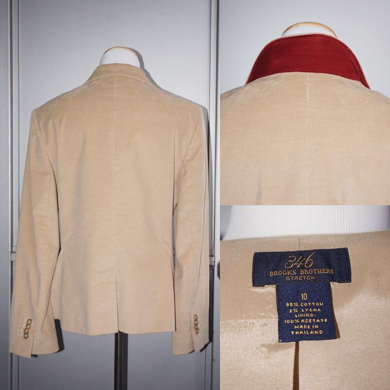 *Like New* 346 Brooks Brothers 98% Cotton Corduroy Blazer Coat Women Size 10
