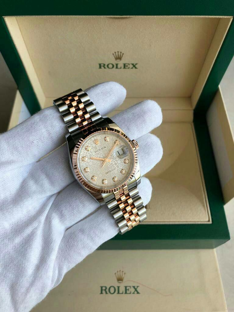 Likenew Rolex Datejust 36mm -Two Tone Rose Gold with Diamond Dial -Sept 2018 di Intime Jkt