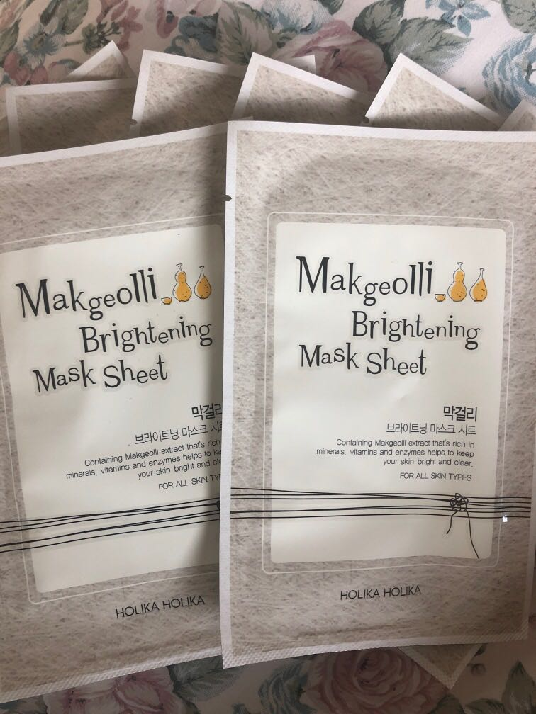 Makgeolli Rice Wine Brightening Face Mask Holika Holika