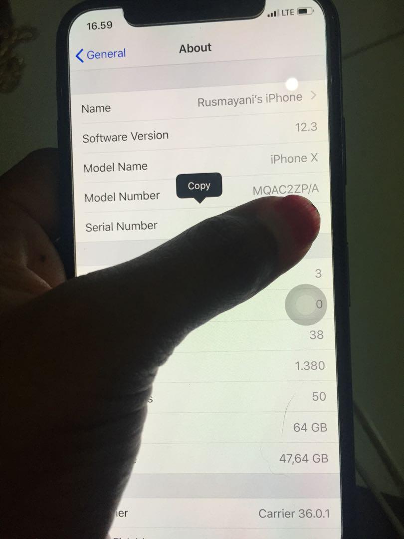 #MAUTHR Iphone X 64GB space grey mulus sangad