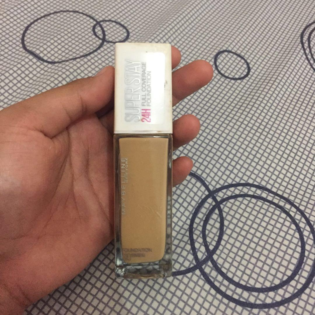 #mauthr  maybelline superstay foundation sun beige