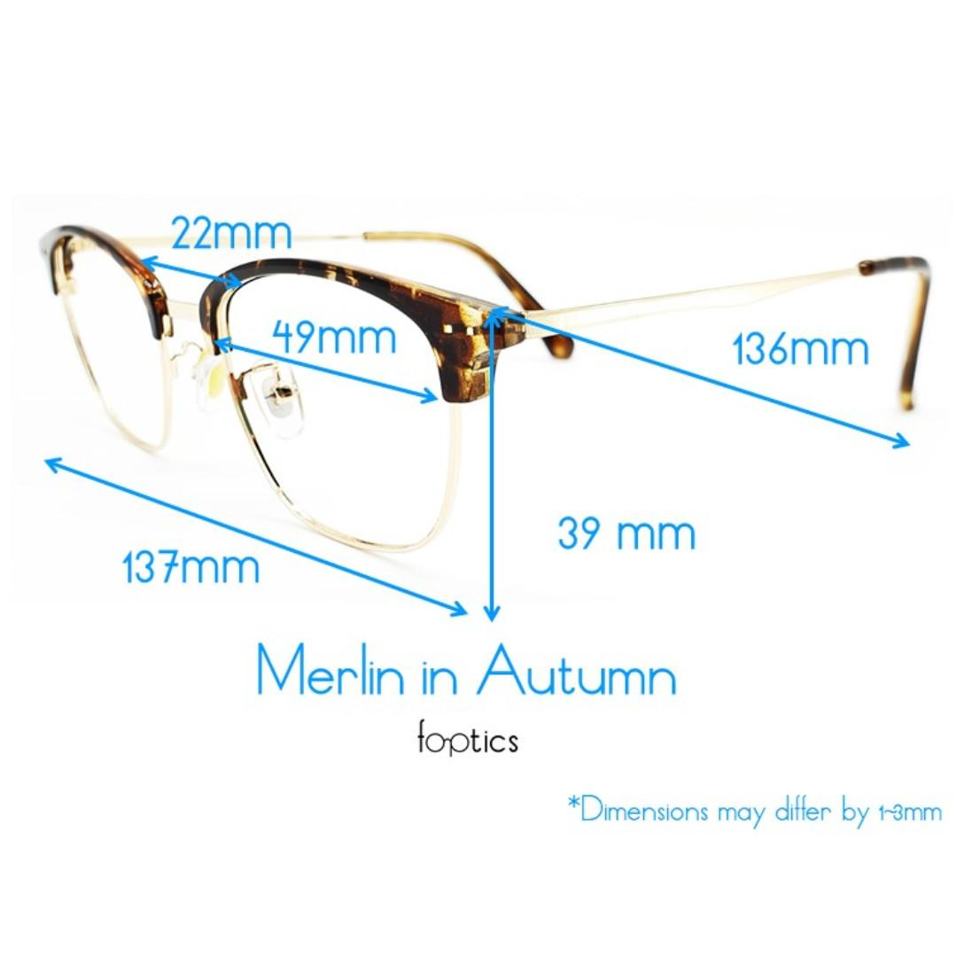 Merlin in Autumn - foptics Eyewear - Prescription Glasses in Singapore