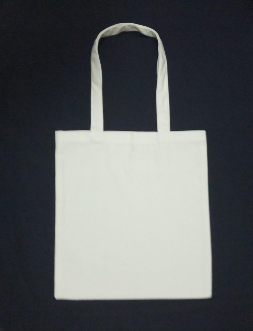 1d75302de9 Plain cotton canvas tote bag, Women's Fashion, Bags & Wallets ...