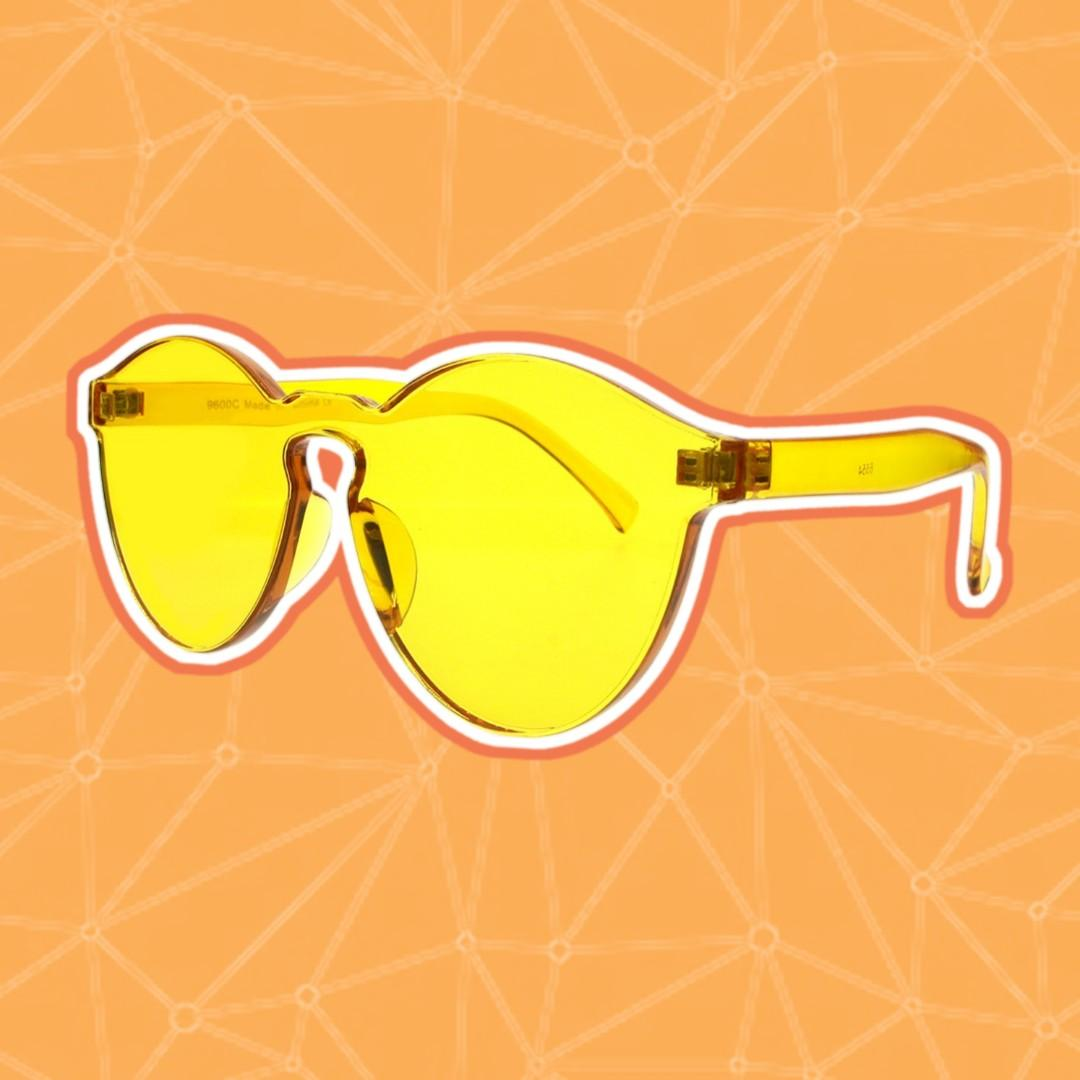 Retro Yellow Acrylic Frames