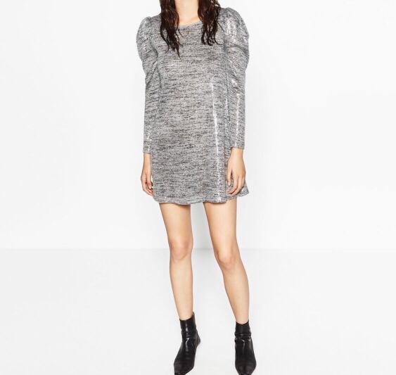 Sequin & Knit dress by Zara. Beautiful silver dress to wear.