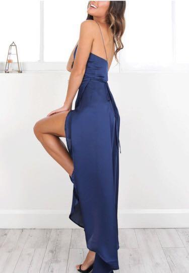 Sexy V Collar Slim Fit Maxi Dress