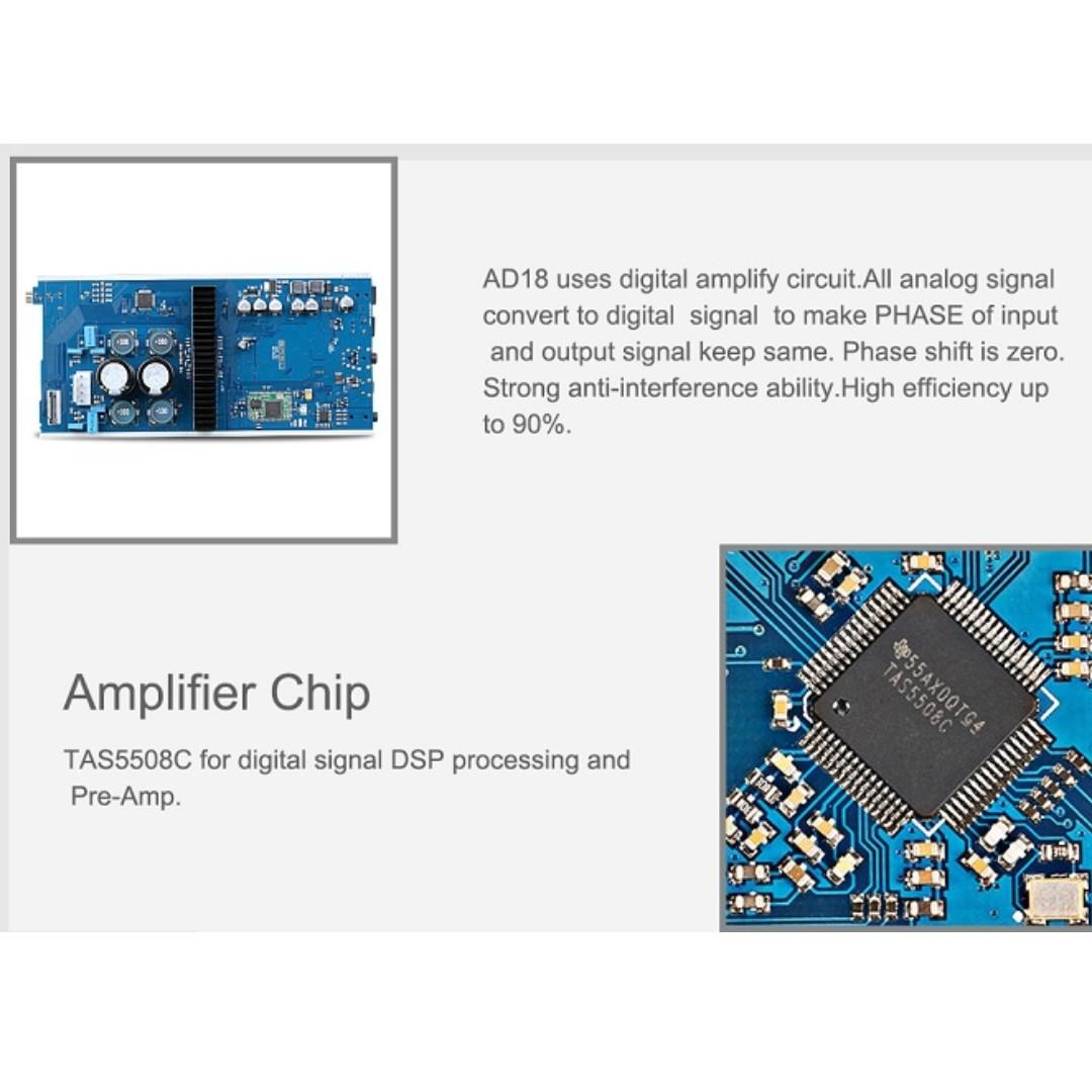 SMSL AD18 80W2 Bluetooth 4 2 HIFI USB DSP Digital Decoding