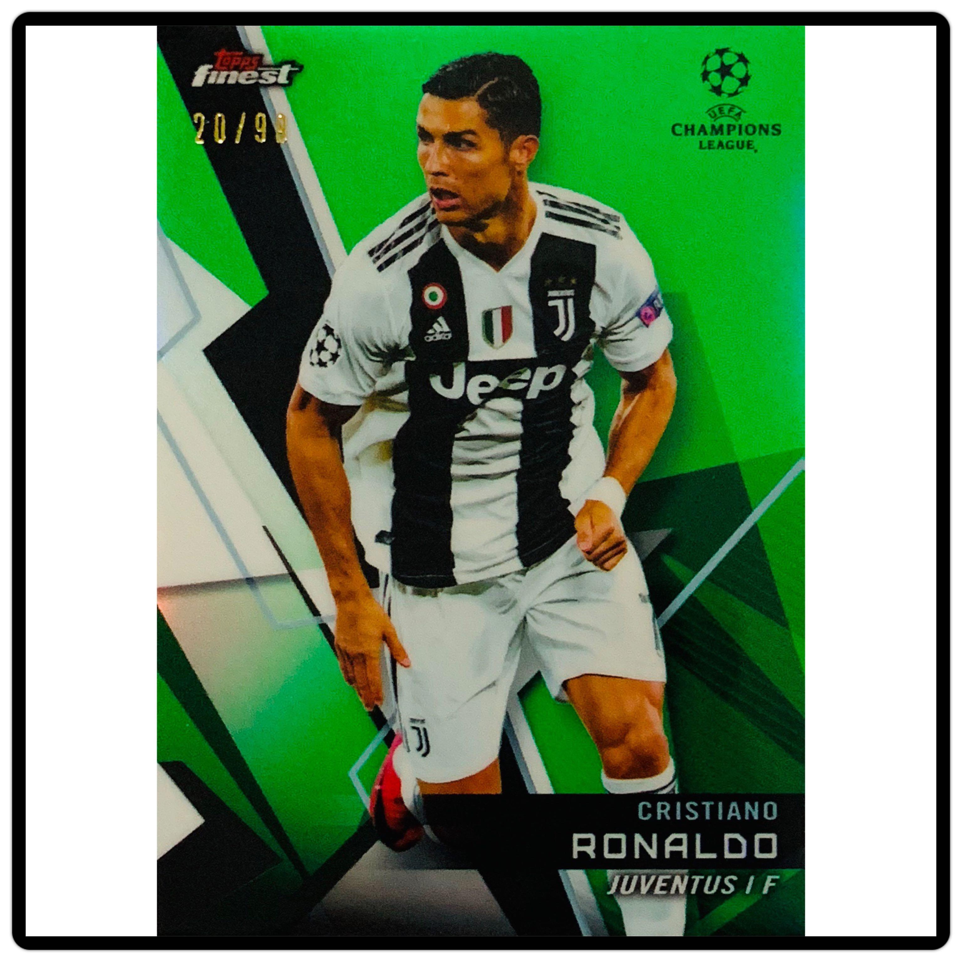 best service a5e74 cda04 Topps Finest Champions League 2018/2019 Cristiano Ronaldo Green Parallel  20/99