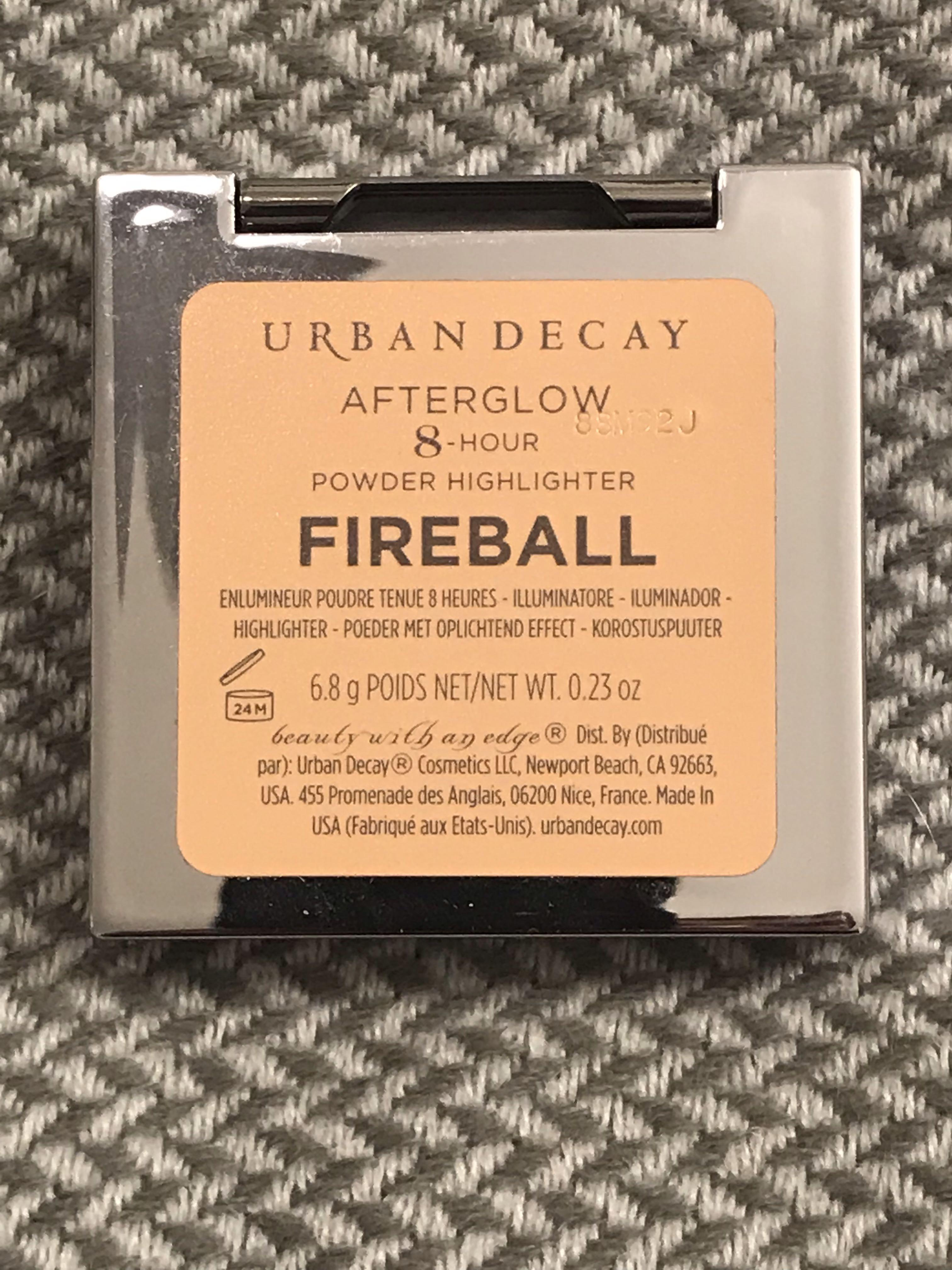 URBAN DECAY AFTERGLOW 8 HOUR POWDER HIGHLIGHTER- FIREBALL AUTHENTIC