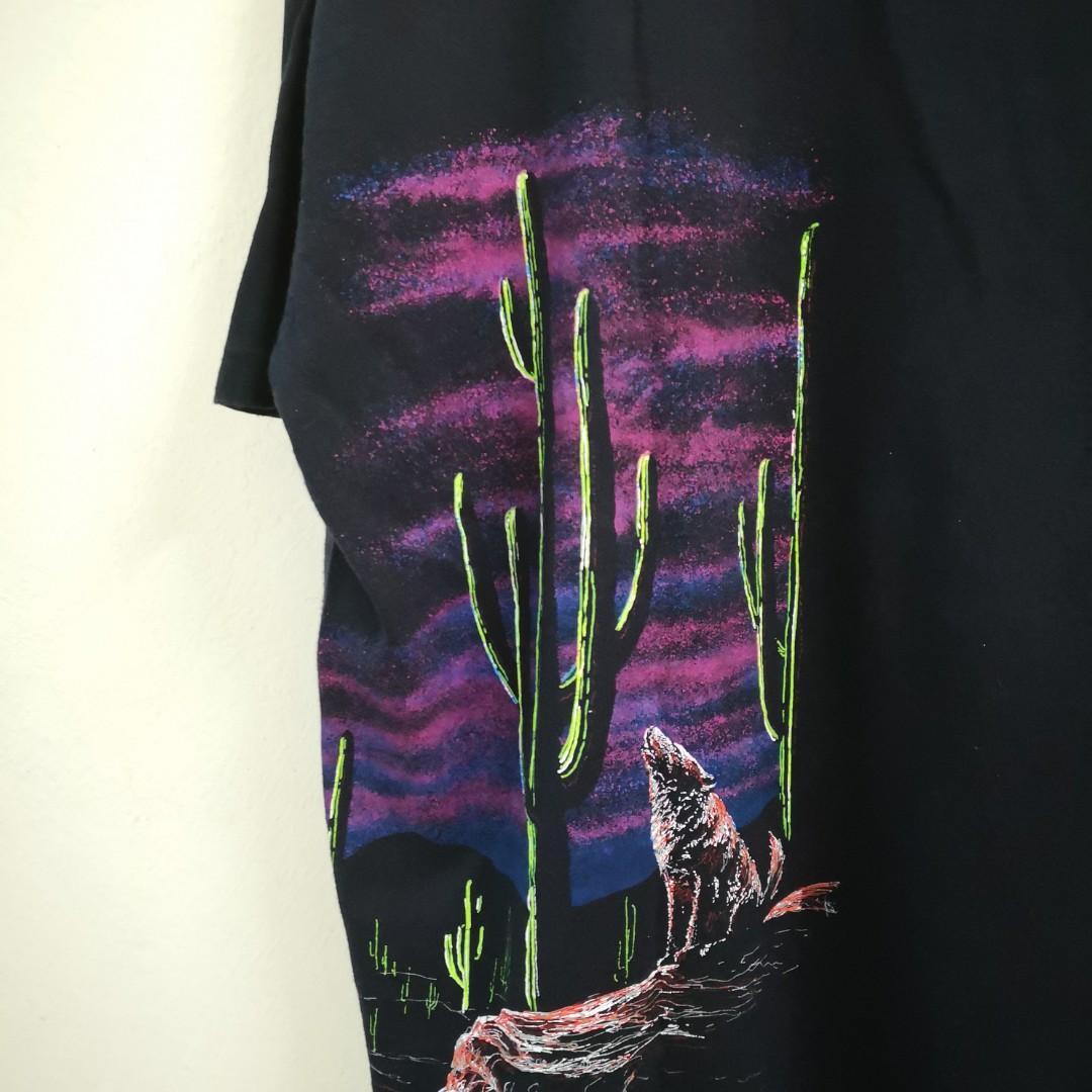 Vintage Wolf Full Print T Shirt Set