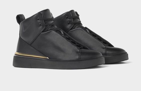 ZARA Men's Black Ankle Boot Sneakers