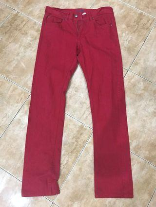 Divided H&M Red Jeans Color