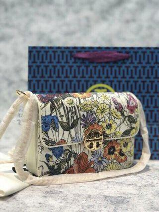 TORY BURCH; Floral Tote Crossbody