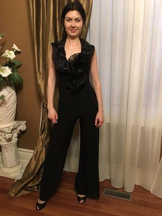 Black jumpsuit with open back size small