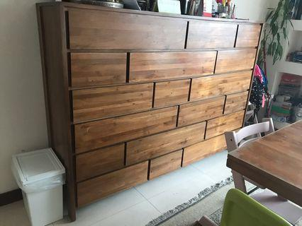 Mango solid wood chest of drawers