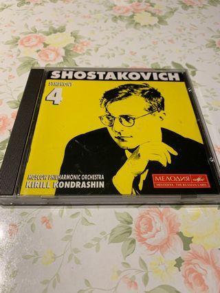 Shostakovich Symphony 4 Moscow Philharmonic Orchestra CD 編號019